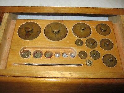 Waage antik, Apothekerwaage, Präzisionswaage, Gewichte, Zubehör, Waage, Messing, 4