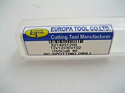 5 x 5mm COBALT STUB DRILL HEAVY DUTY HSSCo8 EUROPA TOOL OSBORN 8205020500  P50