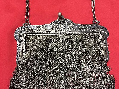 Antique Greek Pewter Womens Purse Alpacca Handbag Ladies Greece Grecia Peltro 2