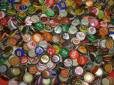 100 Vintage Soda Pop Bottle Caps 60 Different Style Each Lot + 10 Bonus Caps