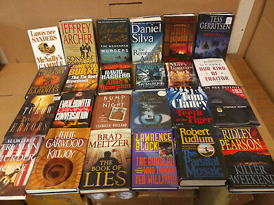 Lot of 10 Mystery Suspense Thriller Crime Murder Detective Hardcover HB MIX Book 7