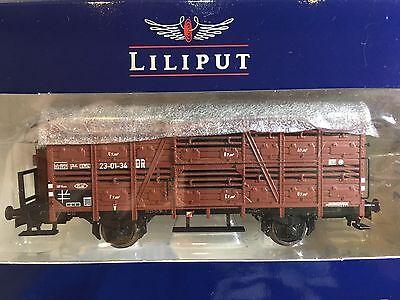 Liliput L235106 Cattle Wagon With Brakeman/'s Cab DB Epoche III H0 New T48 Post