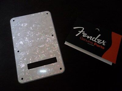 MPN 0991323000 Genuine Fender Strat Backplate 4 Ply White Pearl