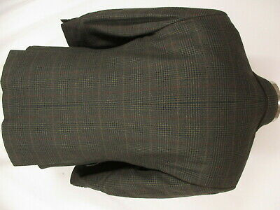 Brooks Brothers Mens Brown Plaid 3 Btn Cashmere Wool Sport Coat 42S 2