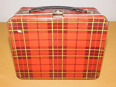 Vintage 1964 King Seeley Plaid Metal Lunchbox
