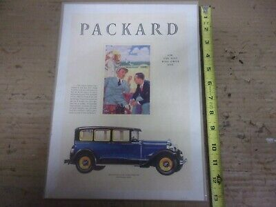 1929 Packard Eight 626 5 Passenger Sedan Magazine Ad 4