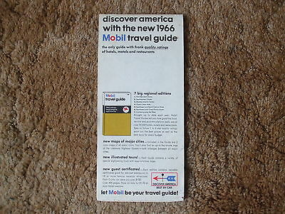 Vintage Mobil Central & Western United States Travel Map 2