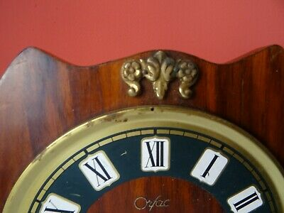 OLD WINTAGE  RETRO CLOCK Mid Century Orfac Pendulum Metal Table Mantle Clock 3
