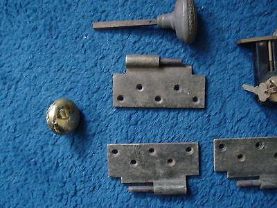 Vintage Door Lock, Hinges, Knobs, Handels,Floor Slide lock, Etc. 5