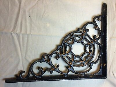 SET OF 4 SPIDERWEB CAST IRON SHELF BRACE BRACKETS rustic black finish 2