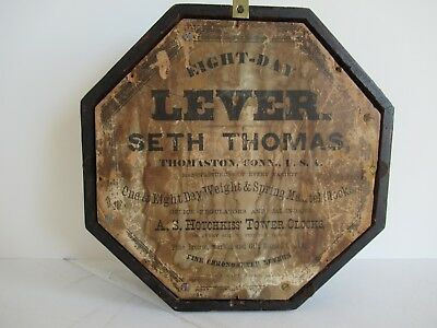 "Seth Thomas 8-day ""Lever"" wall clock 4"