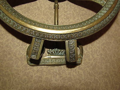 Antique French Bronze Fireplace Hanging Trivet 2