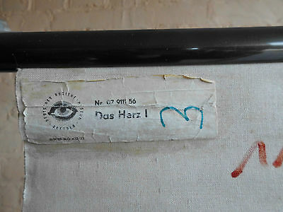 1 x Das Herz I, Lehrtafel (1113), gebr. Logo Deutsches. Hygiene Museum Dresden