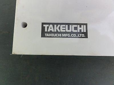 takeuchi tb007 workshop and operators manual compact excavator rh picclick com Takeuchi Mini Excavator Specs Takeuchi TB125 Excavator