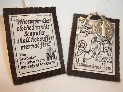 Brown Scapular Our Lady Mount Carmel Handmade & DURABLE- ALMOST UNBREAKABLE 5