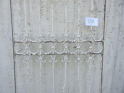 Antique Victorian Iron Gate Window Garden Fence Architectural Salvage #838 3
