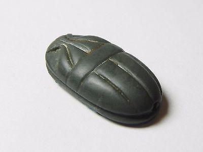 Zurqieh - Af817- Ancient Egypt , New Kingdom Stone Scarab. 1400 B.c