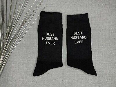 Personalised Custom Vinyl Printed Mens Novelty Black Birthday Everyday Socks
