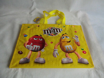 M&M M&M'S Einkaufstasche Tasche Shoppertasche YELLOW RED mit Trage-Henkel  NEU