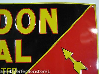 Early 1900s Dundon Coal Advertising Sign 'for winter weather' old embossed *Rare 6