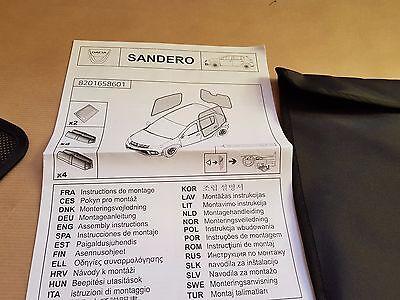 PARE SOLEIL 3 PIECES Laterales Lunette Arriere Dacia Sandero