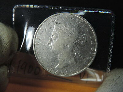 1900 50 Cent Coin Canada Victoria Fifty Cents .925 Silver VF Grade 5