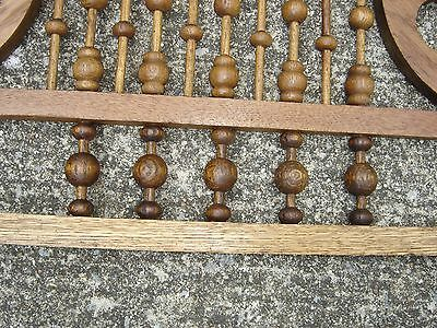 Antique Stick & Ball Oak Fretwork. Pierced corners with scroll design.8887 7