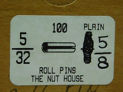 "(100 PACK) 5/32"" Dia x 5/8"" Length Plain Slotted Roll Spring Pin FREE SHIP! NH 5"