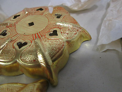6 Kato Kogei Gold Colored Nail Head Covers for Decor Use NOS 5