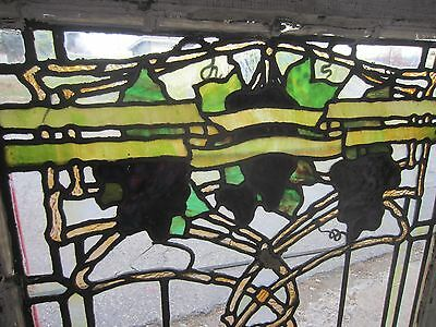 ~ Antique American Stained Glass Window ~ Grapevines ~ Architectural Salvage ~ 2