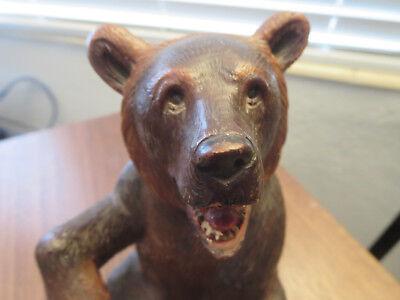 Superb old big Swiss Brienz Black Forest Hand Carved Bear 6