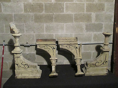 ~ Set 4 Spectacular Antique Corbels ~ 29 Tall ~ Architectural Salvage 2
