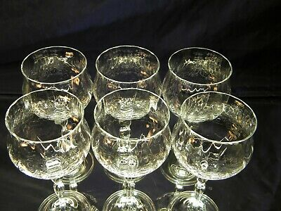 SET of 6 BEAUTIFUL Large Clear Water Wine Goblets Glasses 2