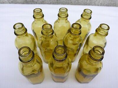 2 x alte kleine grüne Medizin Glas Apotheke Apotheker Flasche ca. 9,7 cm grün 4