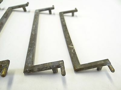 Antique Old Long Dresser White Metal A4614 DG Handles Pulls Parts Hardware 5