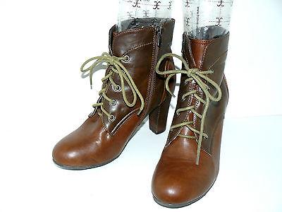 ANNIE G. braune Stiefeletten 39 UK 6 Damen Schuhe Winter