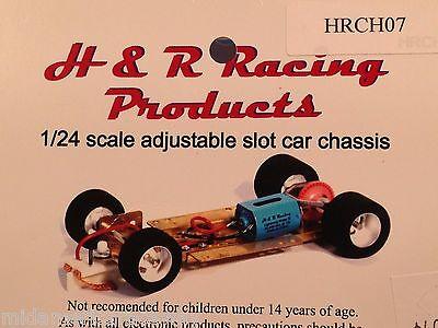 H/&R Racing HRCH06 1//24 Chassis Slot Car Nascar Wheels 26k RPM Motor