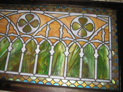 VICTORIAN STAINED GLASS  WINDOW  ca. 1880s 8