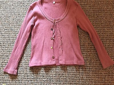 Captain Tortue Skirt Top Cardigan Outfit Set Mauve Lime Green Dusky Pink Age 6 7 5