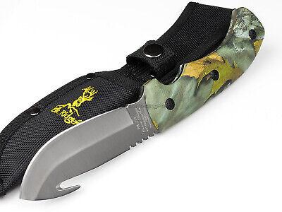 Elk Ridge Gut Hook Fixed Blade Hunting Knife Camo Grip Handle 440 Blade ER274FC 2