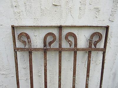 Antique Victorian Iron Gate Window Garden Fence Architectural Salvage #751 2