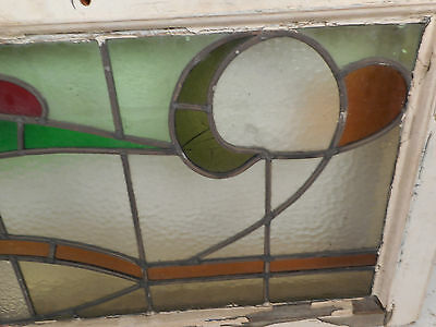 Vintage Stained Glass Window Panel (3222)NJ 4