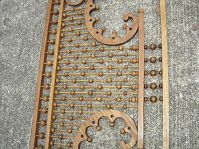 Antique Stick & Ball Oak Fretwork. Pierced corners with scroll design.8887 4
