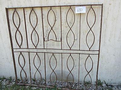 Antique Victorian Iron Gate Window Garden Fence Architectural Salvage Door #630 3