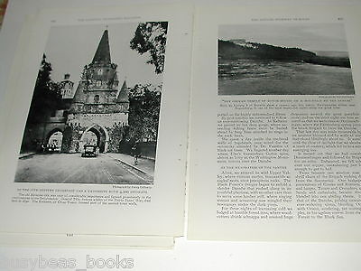 1929 magazine articles x2 on the Danube and Austria, color pics, history, people 10