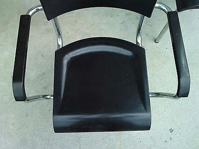 paire de fauteuils rene HERBST bakelite NOIR tubulaire milieu XX eme siecle 7
