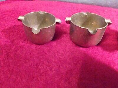 4 kleine alte schwere Bronze/Messing MÖRSER - Aschenbecher 4