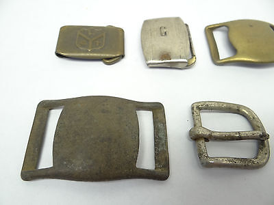 Mixed Antique & Vintage Lot Metal Brass Iron SK Allison Belt Buckles Military 2