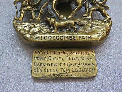 Vintage Brass Door Knocker Widdecombe Fair Uncle Tom Cobleigh and All 2