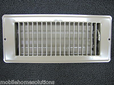 """Lot of 6 Brown Metal Floor Vent Mobile Home RV Parts Floor Register 4/"""" x 10/"""""""